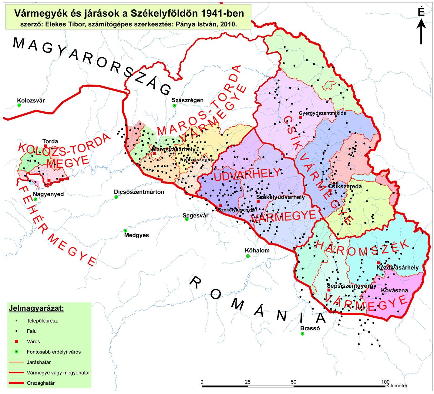 észak erdély térkép Az erdélyi megyék közigazgatási határainak változása a középkortól  észak erdély térkép